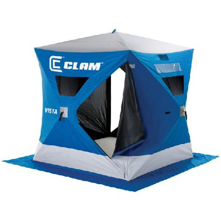 Clam outdoor winter ice fishing 9127 pop up shelters vista for Walmart ice fishing