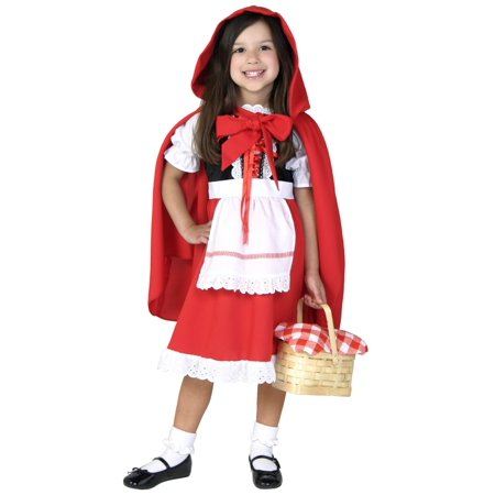 Deluxe Child Little Red Riding Hood Costume (Halloween Makeup Little Red Riding Hood)