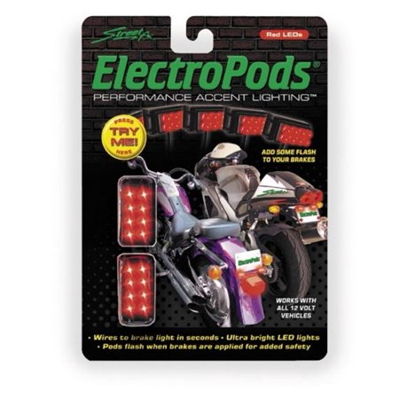 - Street FX 1043311 Electropods Brake Lightpods - Chrome