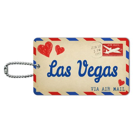 Graphics and More Air Mail Postcard Love for Las Vegas ID Card Luggage