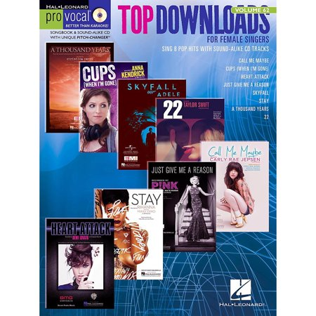 Hal Leonard Top Downloads - Pro Vocal Songbook & CD For Female Singers Vol   62