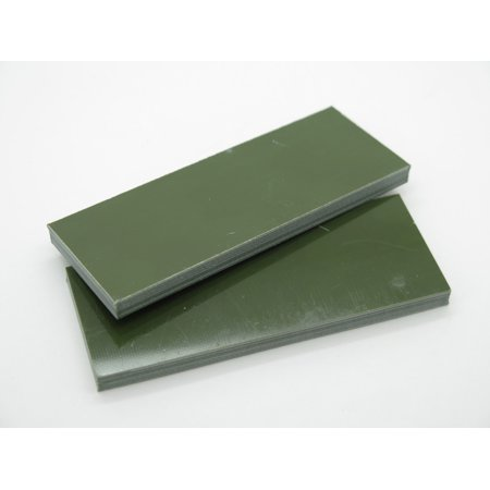 2 pcs G10 1/4 OLIVE OD GREEN SCALE SLAB KNIFE MAKING HANDLE MATERIAL BLANK - Green G10 Handle