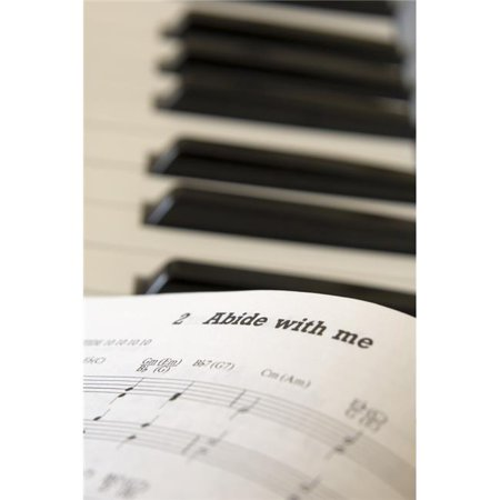 Book of Music Open On Piano Close Up Poster Print by John Short, 11 x 17 - image 1 de 1