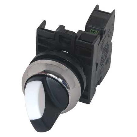 EATON M22M-WKV-K10 Non-Illum Selector Switch,Al,1NO,Black