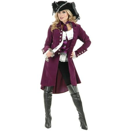 Womens Pirate Lady Vixen Jacket Plumberry (Steampunk Pirate Coat)