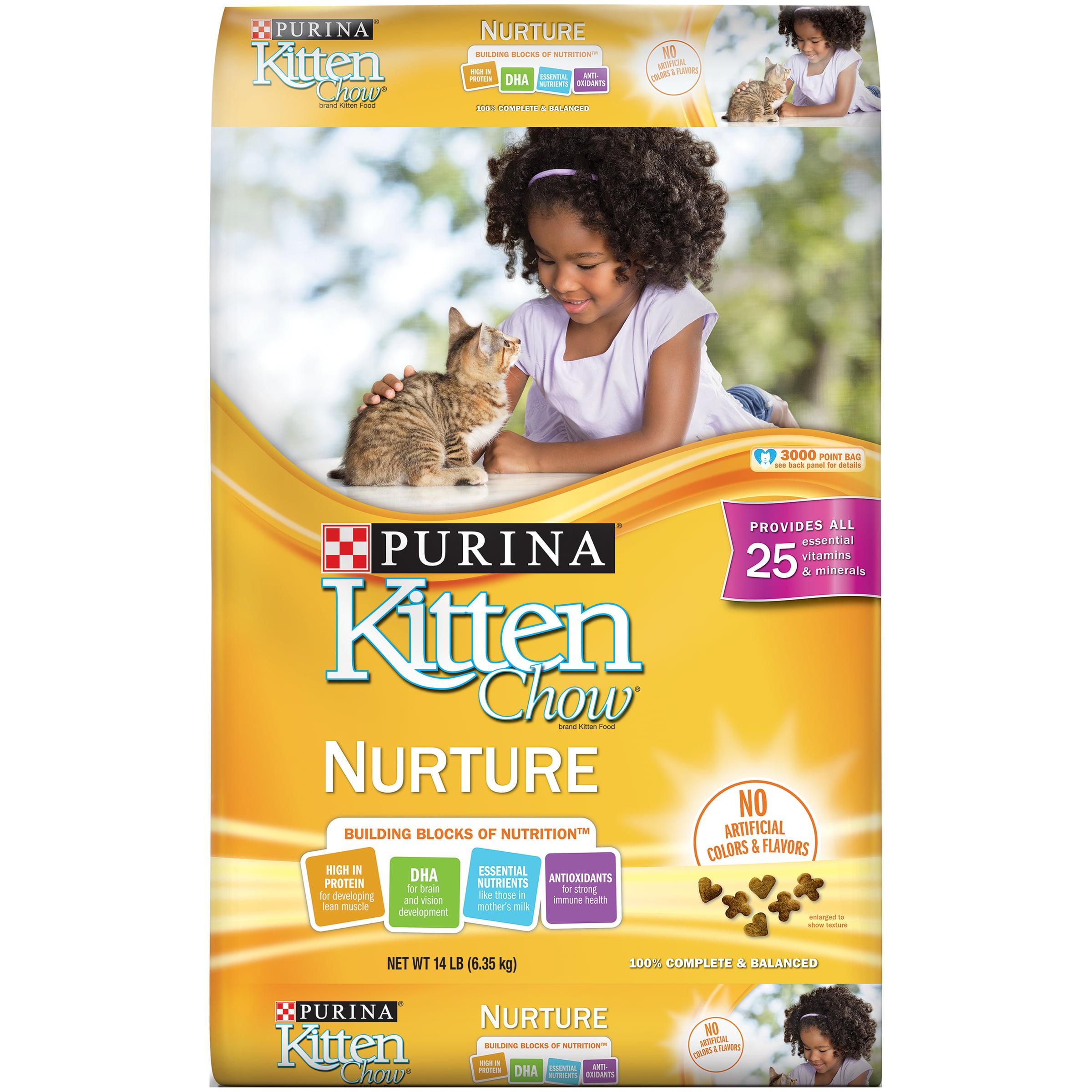 Purina Kitten Chow Nurture Dry Cat Food, 14 Lb