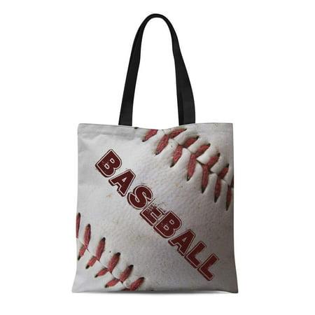 ASHLEIGH Canvas Tote Bag Red Photography Baseball Graphics Sports Childrens Boys Reusable Handbag Shoulder Grocery Shopping Bags - Childrens Shopping Bag