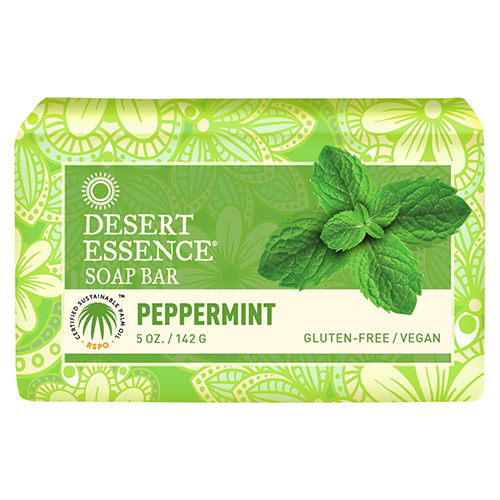 Desert Essence Vegan Bar Soap, Peppermint, 5 oz