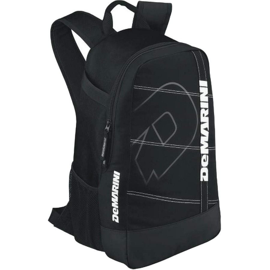 "DeMarini Uprising Carrying Case (Backpack) for Baseball Bat, Helmet, Glove, Cleat - Black - Water Proof Base - Checkpoint Friendly - Shoulder Strap - 17.5"" Height x 12"" Width x 7"" Depth"