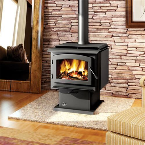 Napoleon 2300 Large Wood Burning Stove on Pedestal with Door