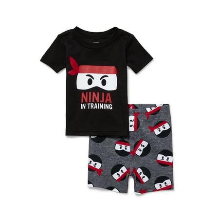 Baby And Toddler Boys 'Ninja In Training' Ninja Print Snug-Fit PJ Set (Baby and Toddler - Boys Sleepware