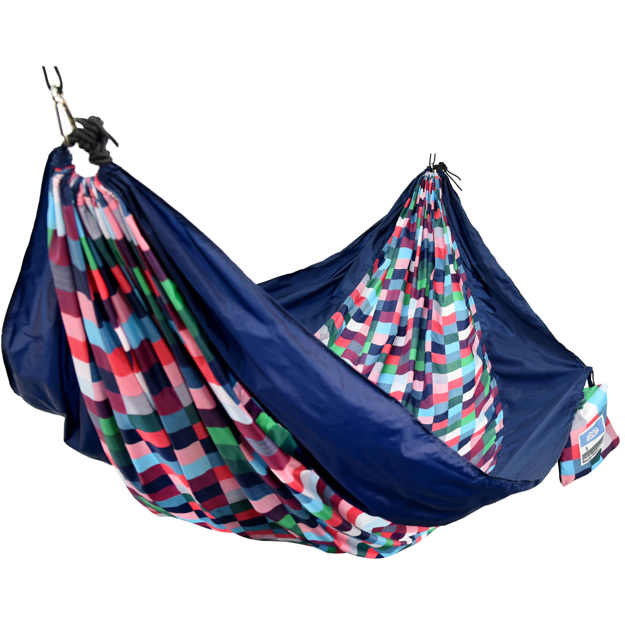 Equip 2-Person Durable Nylon Portable Hammock for Camping, Hiking, Backpacking, Travel, Includes Hanging Kit, Digi by Denovo Brands LLC