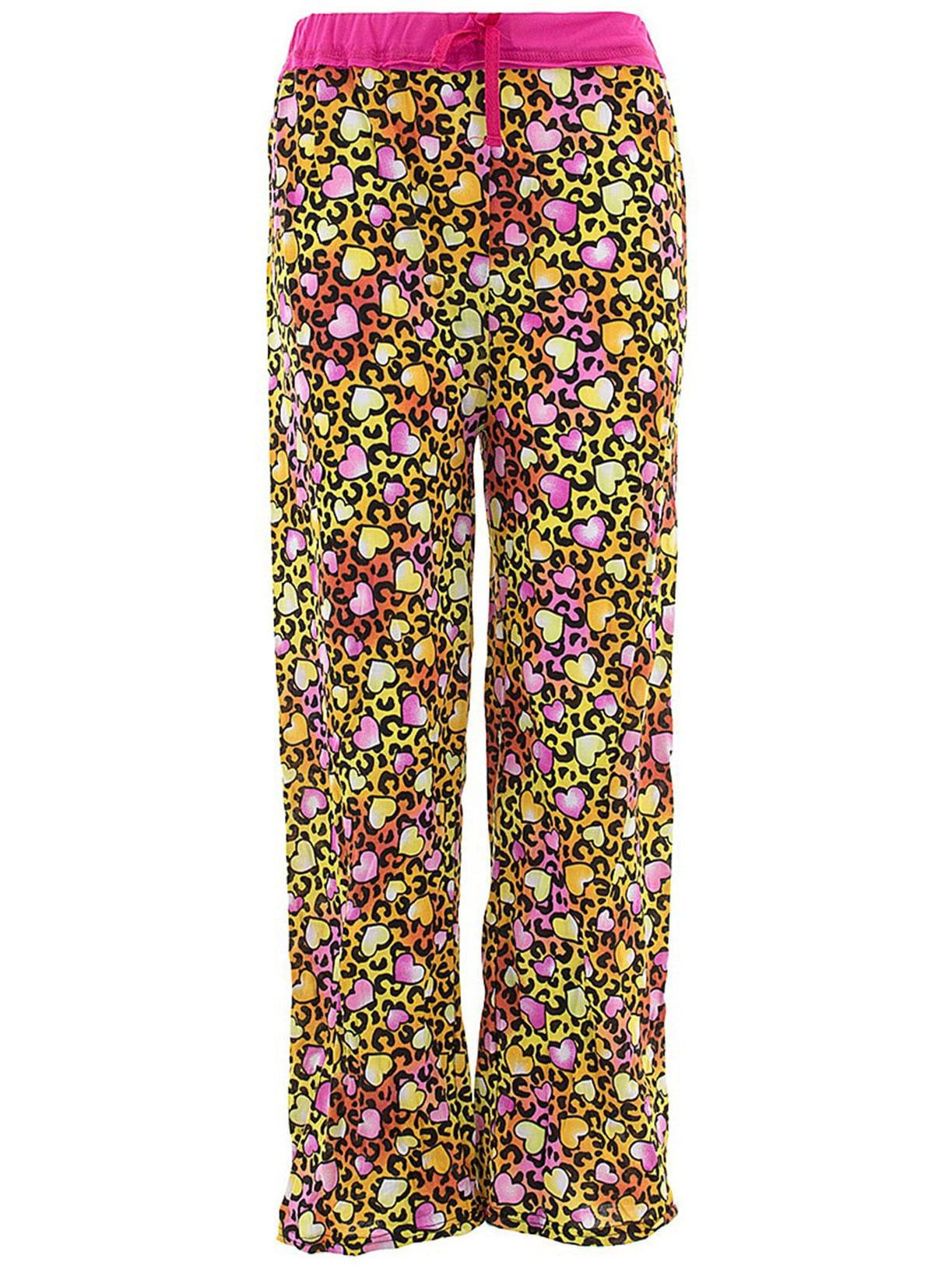 Sweet N Sassy Girls Leopard Orange Pajama Pants