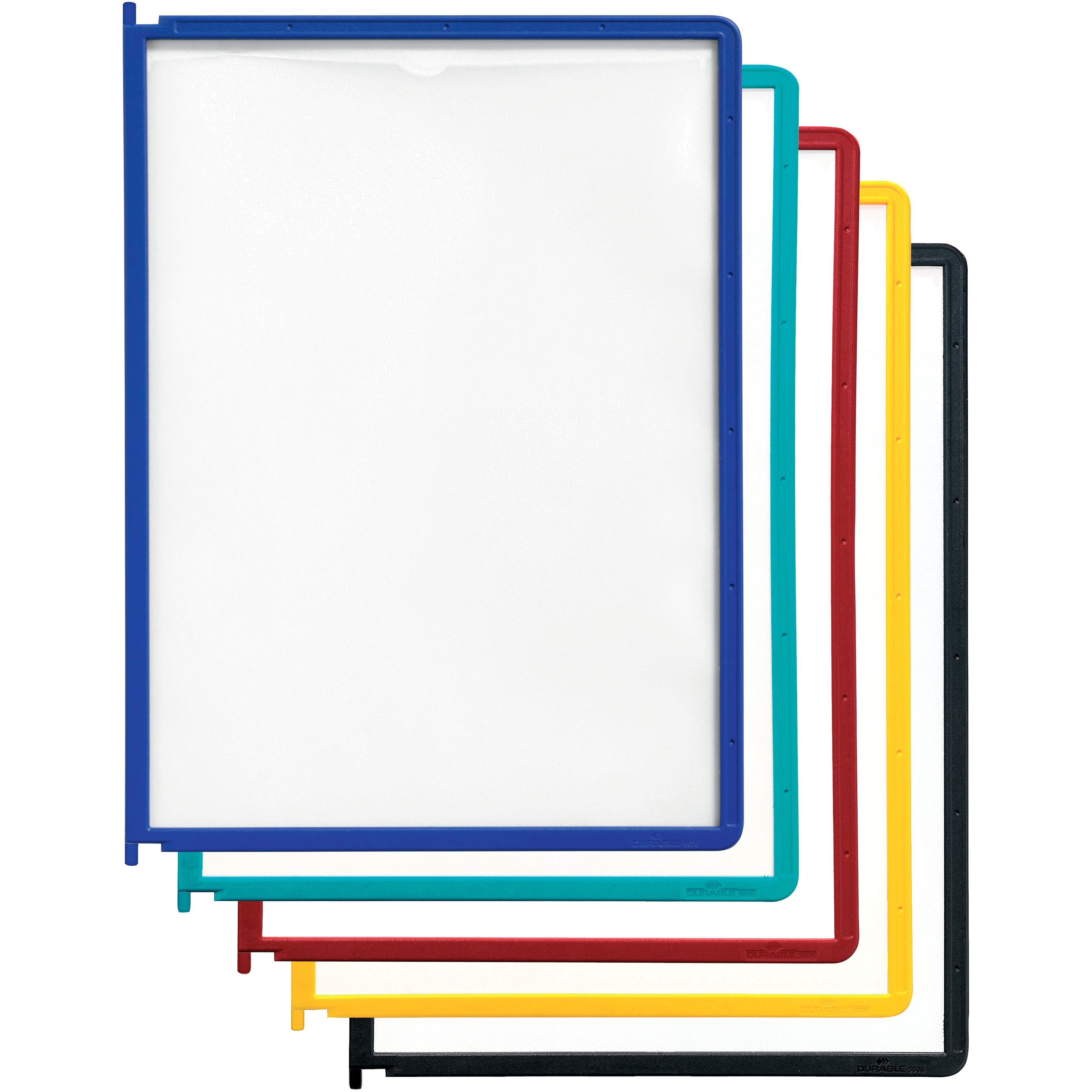 DURABLE Instaview Desktop Reference System Panels, Assorted Border, 5 / Set (Quantity)