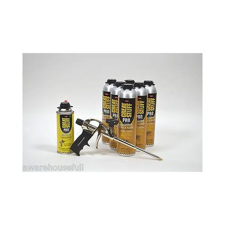 Dow Great Stuff PRO Wall and Floor Kit, 6-26.5 oz Wall & Floor, AWF Pro Foam Gun, Cleaner Pro Floor Kit