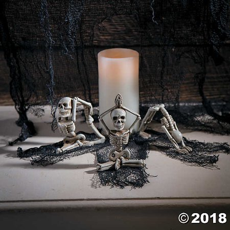 Yoga Skeletons Halloween Décor(pack of 6)