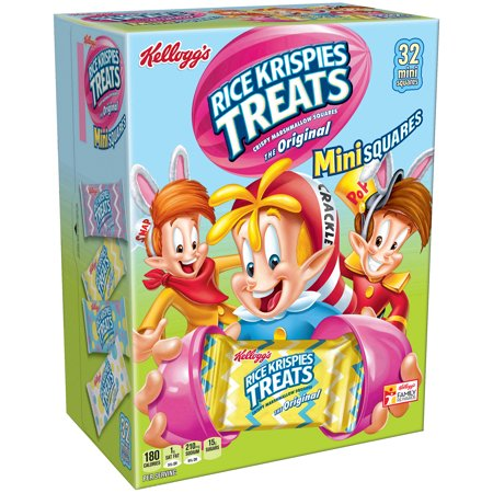 Kellogg's Rice Krispies Treats Easter Mini Squares, 32 Ct, 12.4 Oz