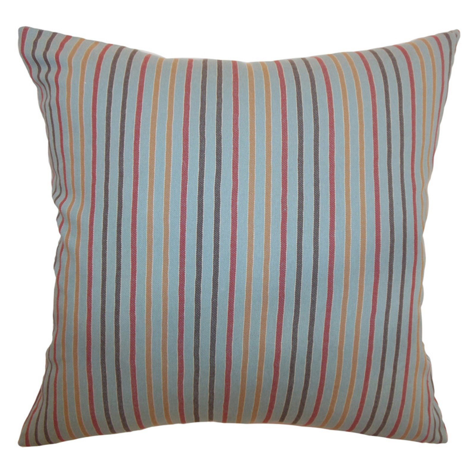 The Pillow Collection Lesly Stripes Pillow - Blue Grey