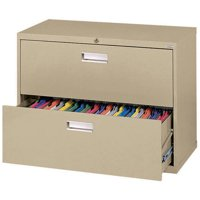 "Sandusky Lee 600 Series 36"" 2-Drawer Lateral File, Tropic Sand"