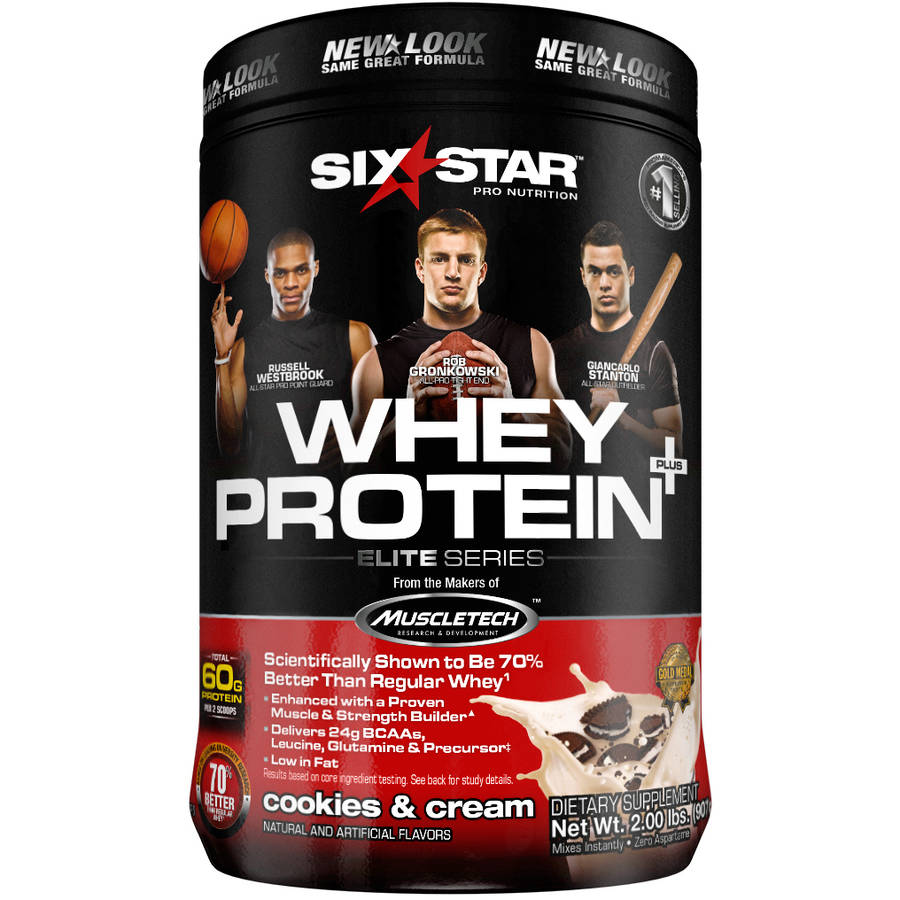 Six Star Pro Nutrition Whey Protein Plus Cookies & Cream, 2 lb
