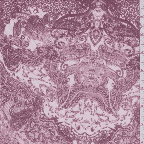 Cedar Rose Lace Print Mesh, Fabric By the Yard