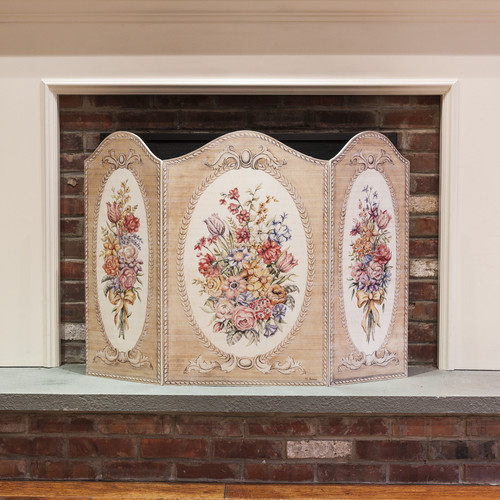 Stupell Industries Tapestry and Floral 3 Panel Fireplace Screen
