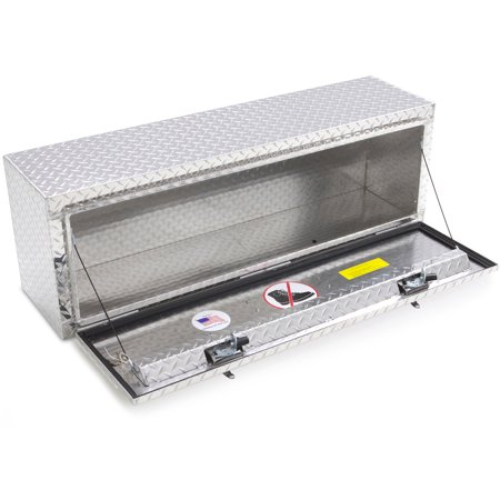 Lund 8148 48-Inch Aluminum Top Mount Truck Tool Box, Diamond Plated, Silver Aluminum Diamond Plate Tool Box