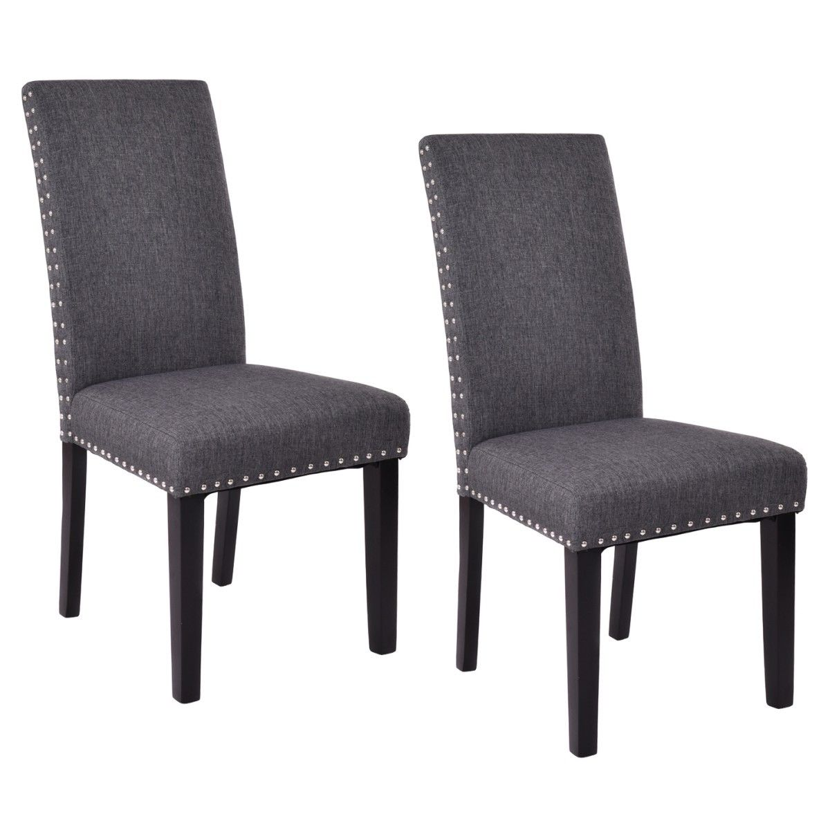 Costway Set of 2 Dining Chairs Fabric Upholstered Armless Accent Home Kitchen Furniture - Walmart.com  sc 1 st  Walmart & Costway Set of 2 Dining Chairs Fabric Upholstered Armless Accent ...