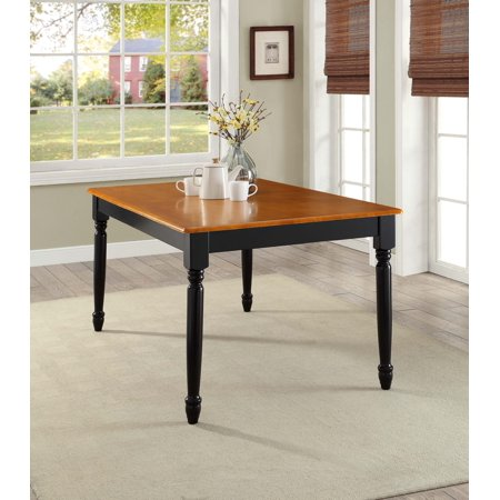 Better Homes And Gardens Autumn Lane Farmhouse Dining Table  Black And Oak