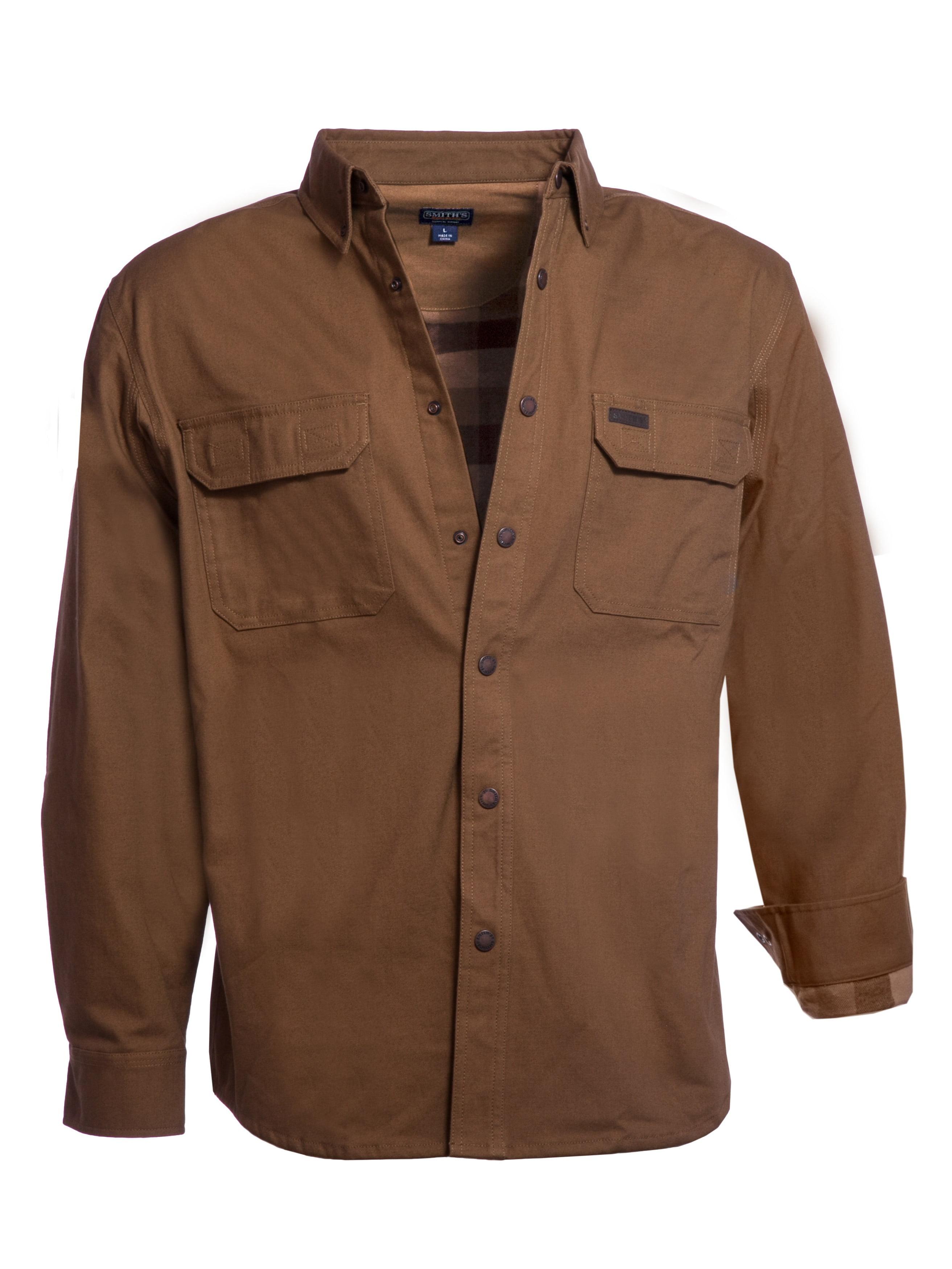 Smiths Workwear Mens Fleece Lined Canvas Shirt Jacket
