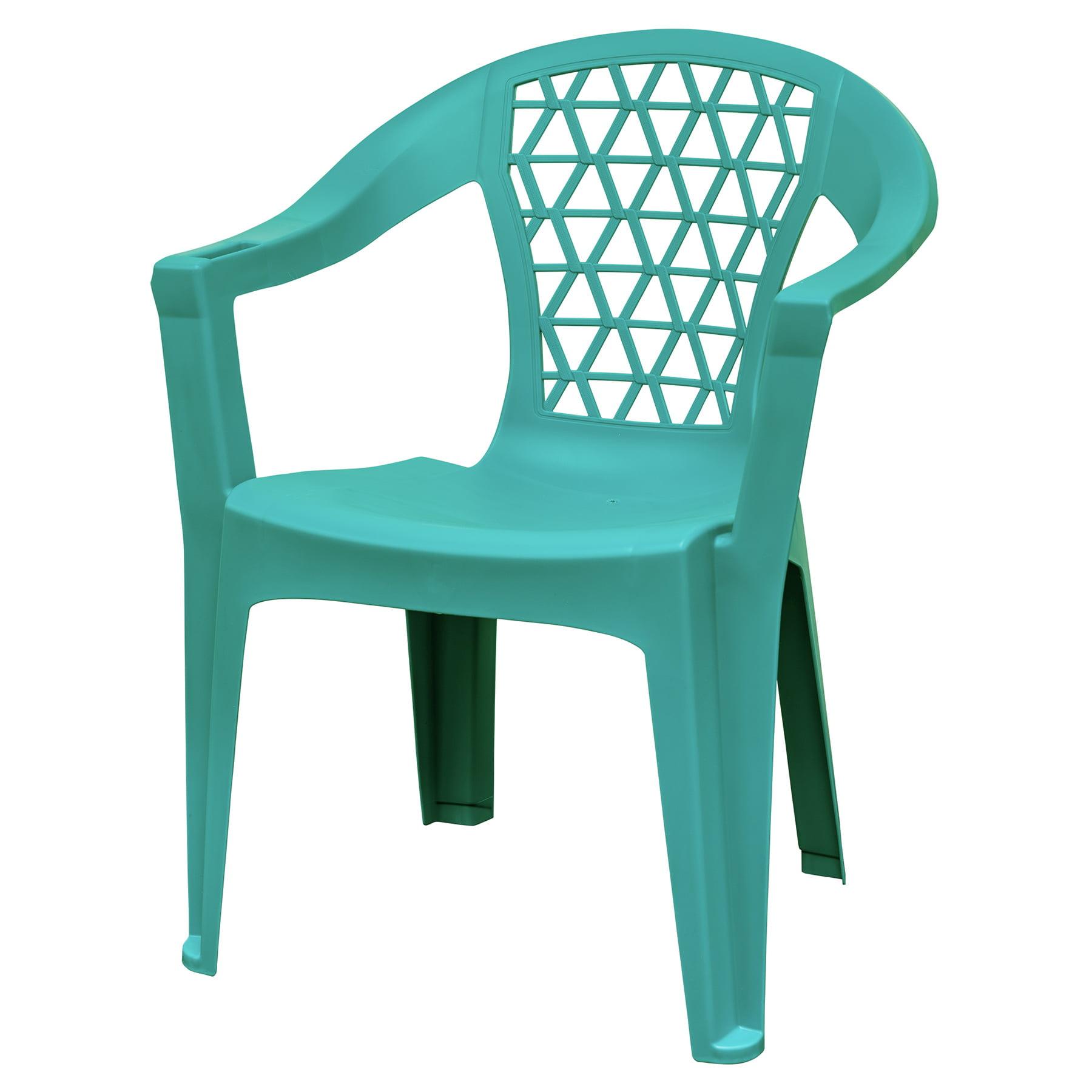 Adams Penza Outdoor Resin Stack Chair With Phone Holder Plastic Patio Furniture Teal Walmart Com Walmart Com