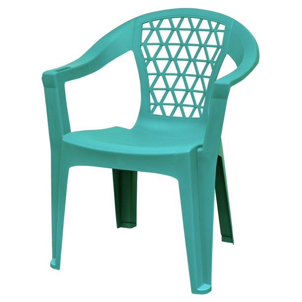Adams Penza Outdoor Resin Stack Chair With Phone Holder Plastic Patio Furniture Teal Walmart Com Walmart Com