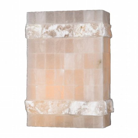 Pompeii Collection (Pompeii Collection 1 Light Flemish Brass Finish Natural Quartz Stone Wall Sconce 8