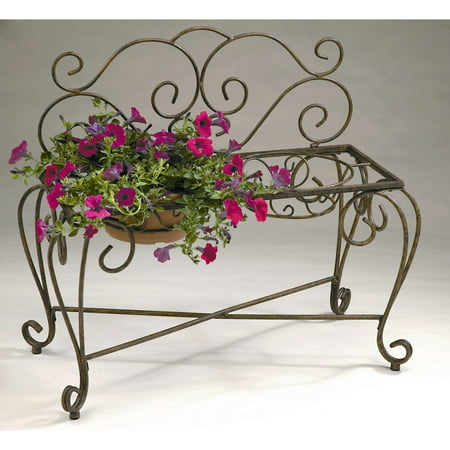 Deer Park Ironworks 2-Pot Bench Planter Deer Park Deer Planter