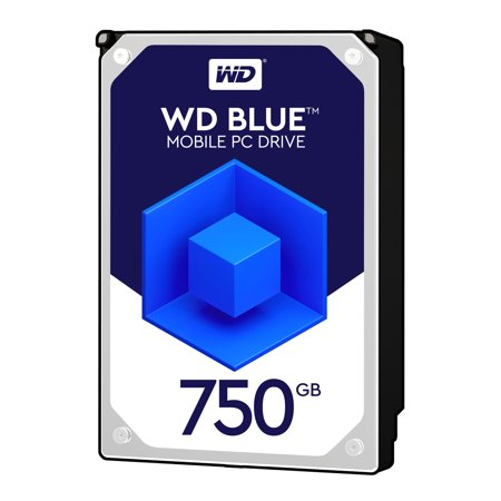 WD Blue 750GB Mobile 9.50mm Hard Disk Drive - 5400 RPM SATA 6Gb/s 8MB Cache 2.5 Inch -