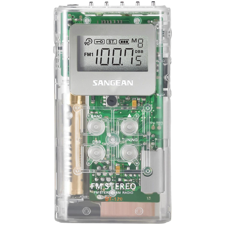 Sangean DT-120 CLEAR Pocket AM/FM Digital Radios (Clear)