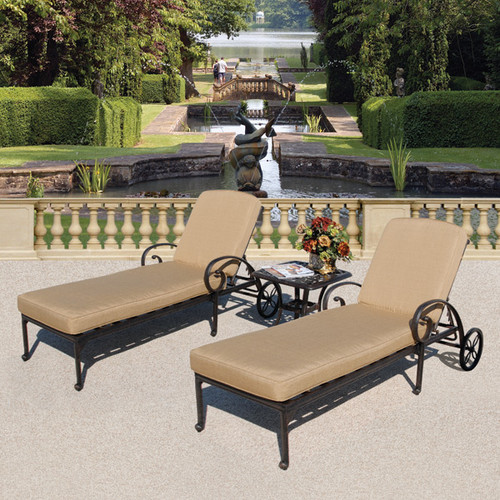 Art Frame Direct Maravilla 3 Piece Chaise Lounge Set with Cushions