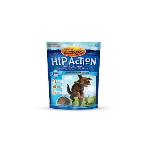 Zuke's Hip Action Natural Dog Treats, Roasted Beef Recipe , 6-Ounce Multi-Colored