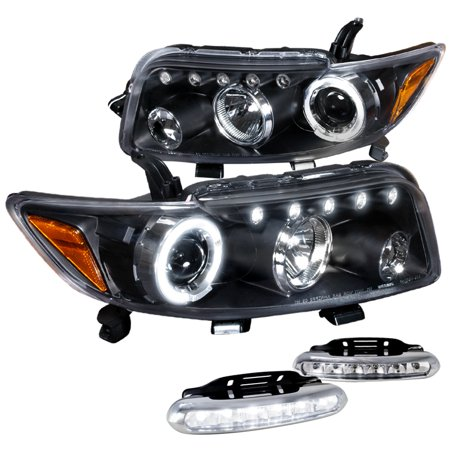 Spec-D Tuning For 2008-2010 Scion Xb Halo Projector Black Headlights + Led Driving Fog Lamps (Left+Right) 2008 2009