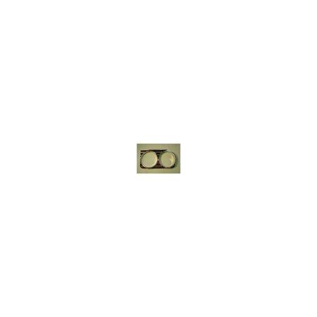 Eckler's Premier  Products 40-167382 Full Size Chevy Headlight Bezels, (Impala Headlight Bezel)