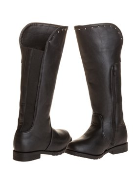 c8b0eedf0b812 Product Image Sara Z Girls Studded Riding Boot With Elastic Back