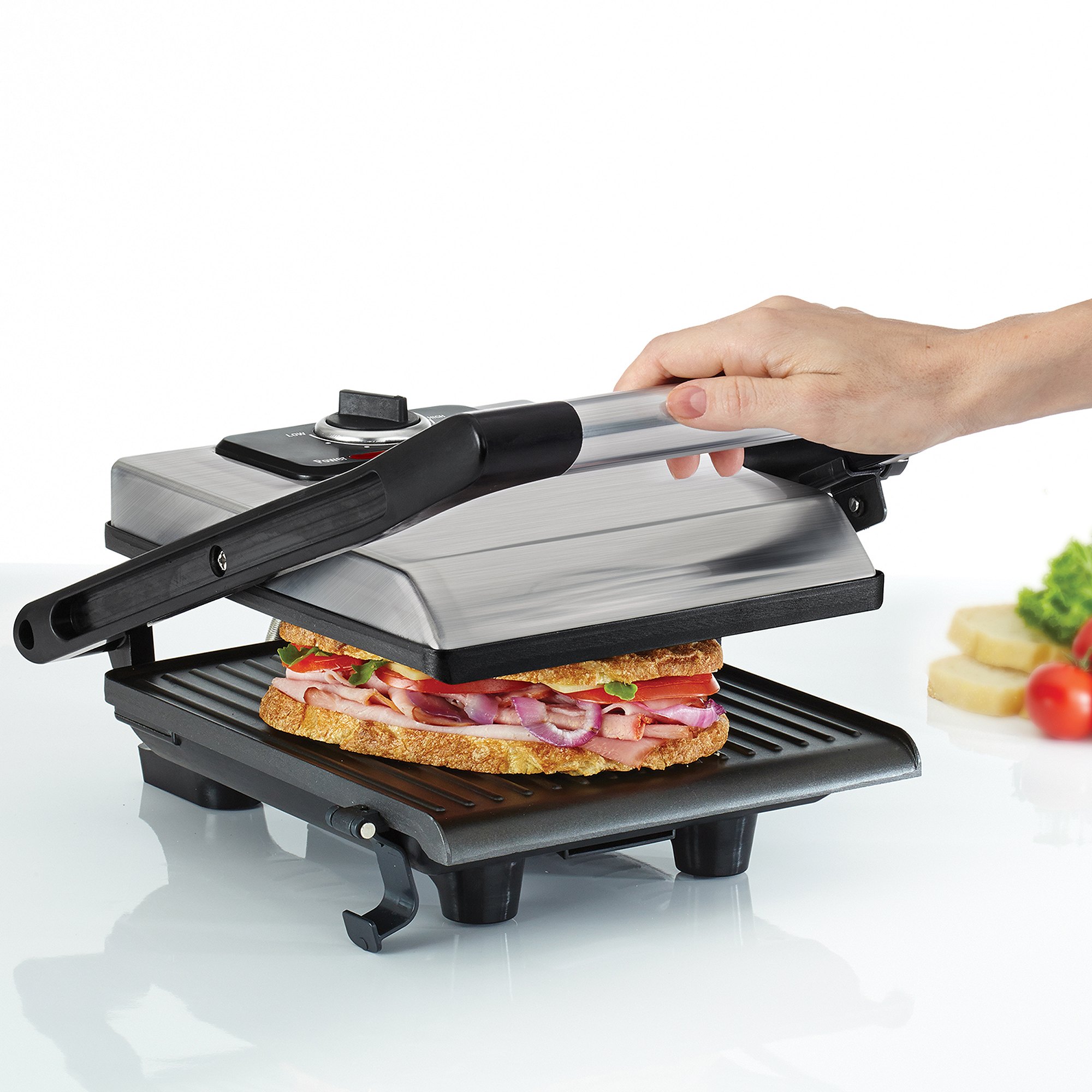 Bella Panini Maker, Brushed Stainless Steel