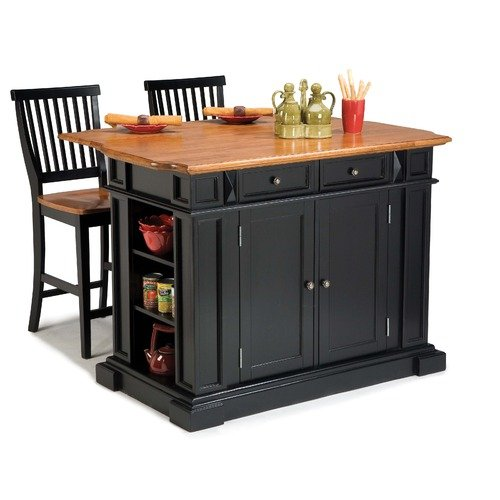 Home Styles 3 Piece Kitchen Island Set