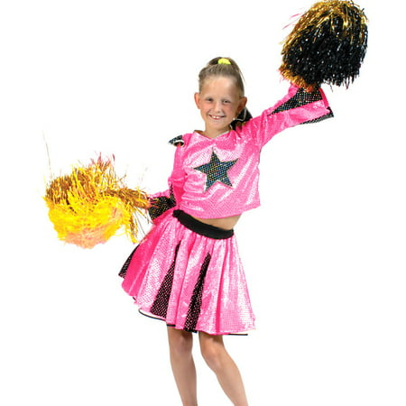 Pink Star Deluxe Cheerleader Costume