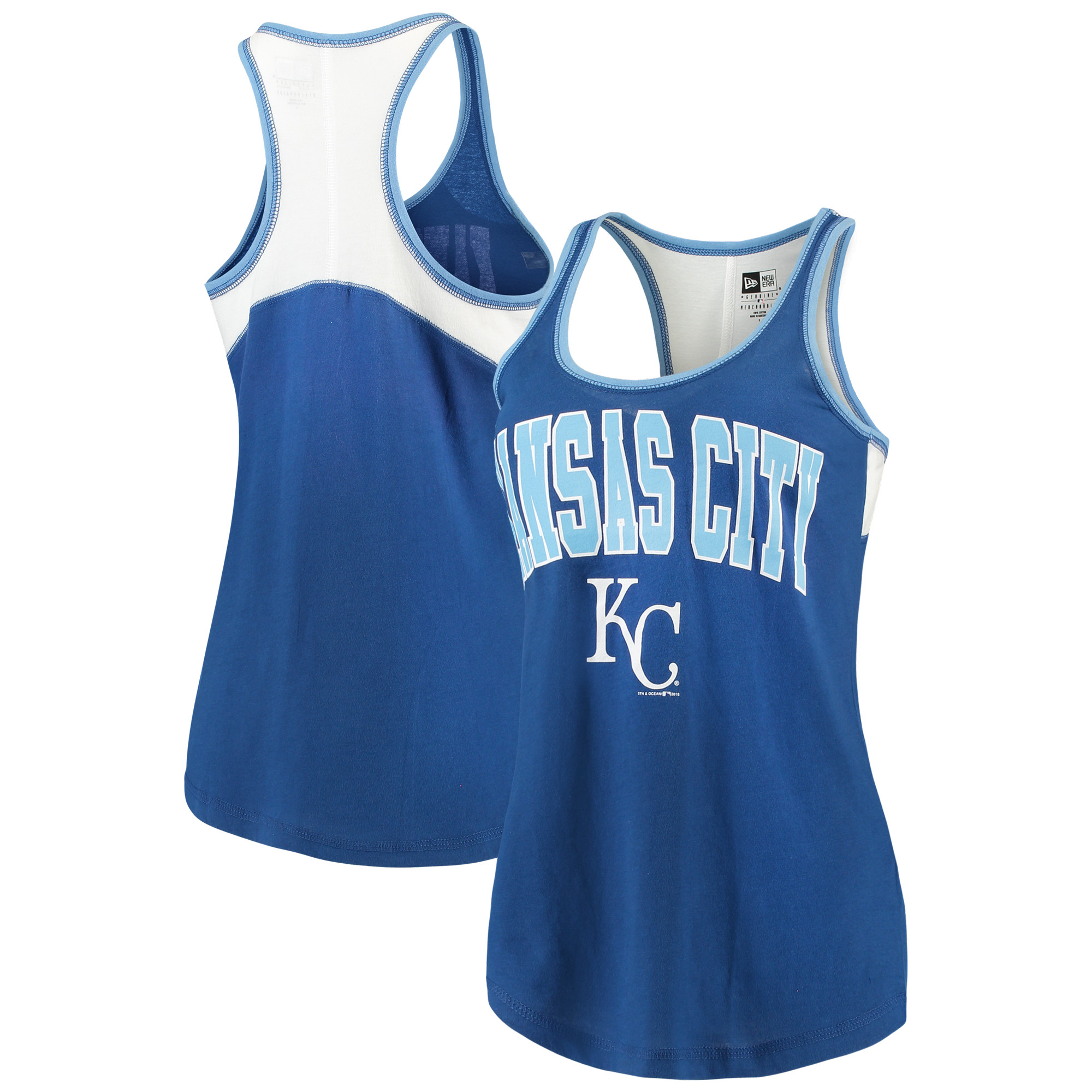 Kansas City Royals 5th & Ocean by New Era Women's Baby Jersey Racerback Tank Top - Royal
