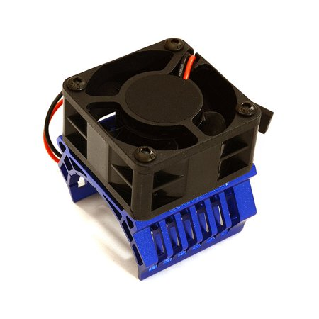 Integy RC Toy Model Hop-ups C28599BLUE 36mm Motor Heatsink+40x40mm Cooling Fan 16k rpm for 1/10 TR-MT10E & TRX-4