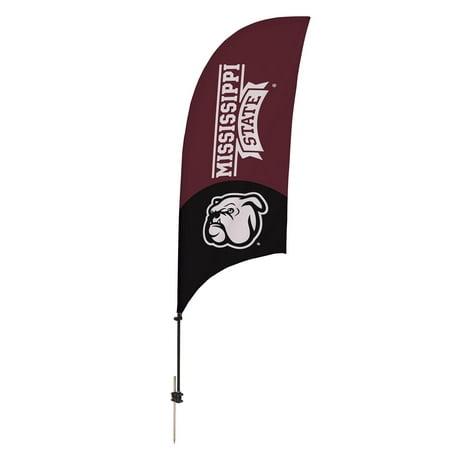 Mississippi State Bulldogs 7.5' Mascot Razor Feather Stake Flag - No Size - Bulldog Mascot