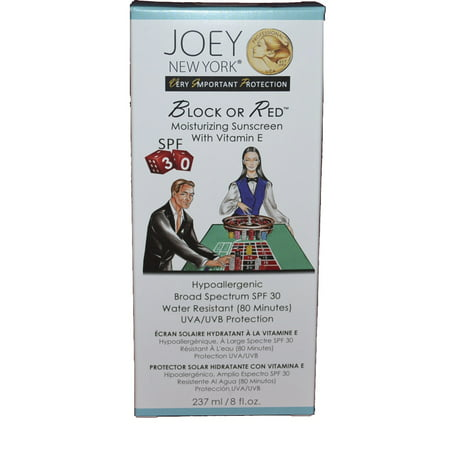 Joey New York VIP Collection Block or Red Moustirizing Sunscreen SPF 30 8 (Block Sunblock)