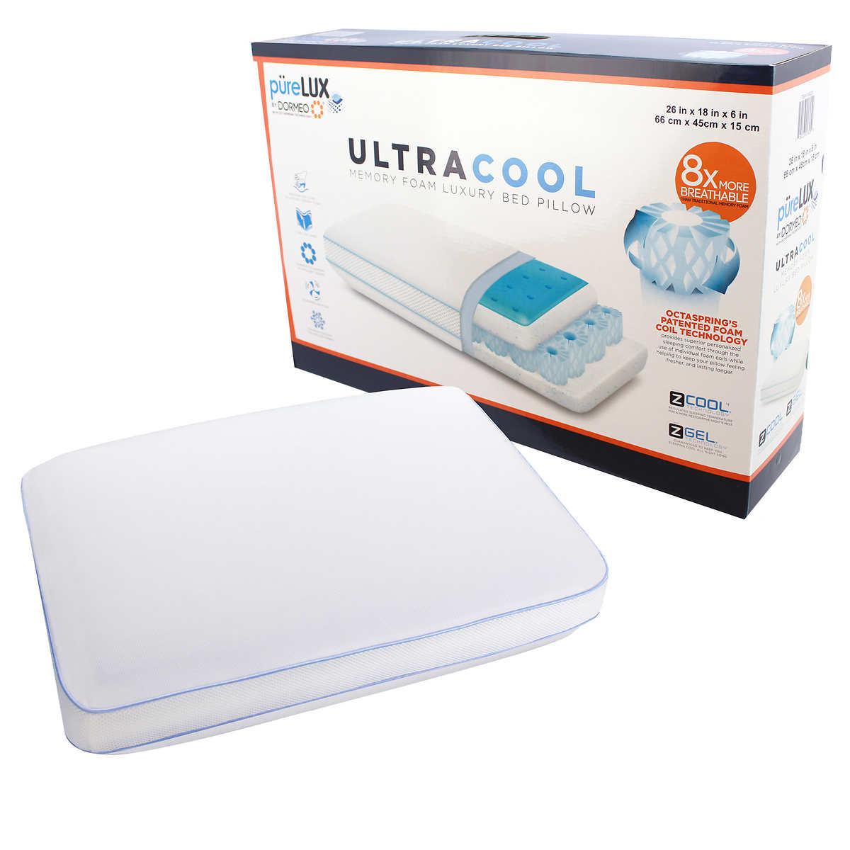 PüreLUX UltraCool Dormeo Memory Foam Pillow
