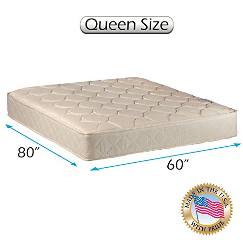"Comfort Classic Gentle Firm Queen size (60""x80""x9"") Mattress Only - Fully Assembled, Orthopedic, Good for your back, Superior Quality - Long Lasting and 2 Sided by Dream Solutions USA"